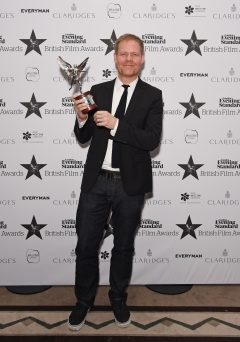 LONDON, ENGLAND - DECEMBER 08:  Max Richter, winner of the Technical Achievement award, poses at The London Evening Standard British Film Awards at Claridge's Hotel on December 8, 2016 in London, England.  (Photo by David M. Benett/Dave Benett/Getty Images) *** Local Caption *** Max Richter